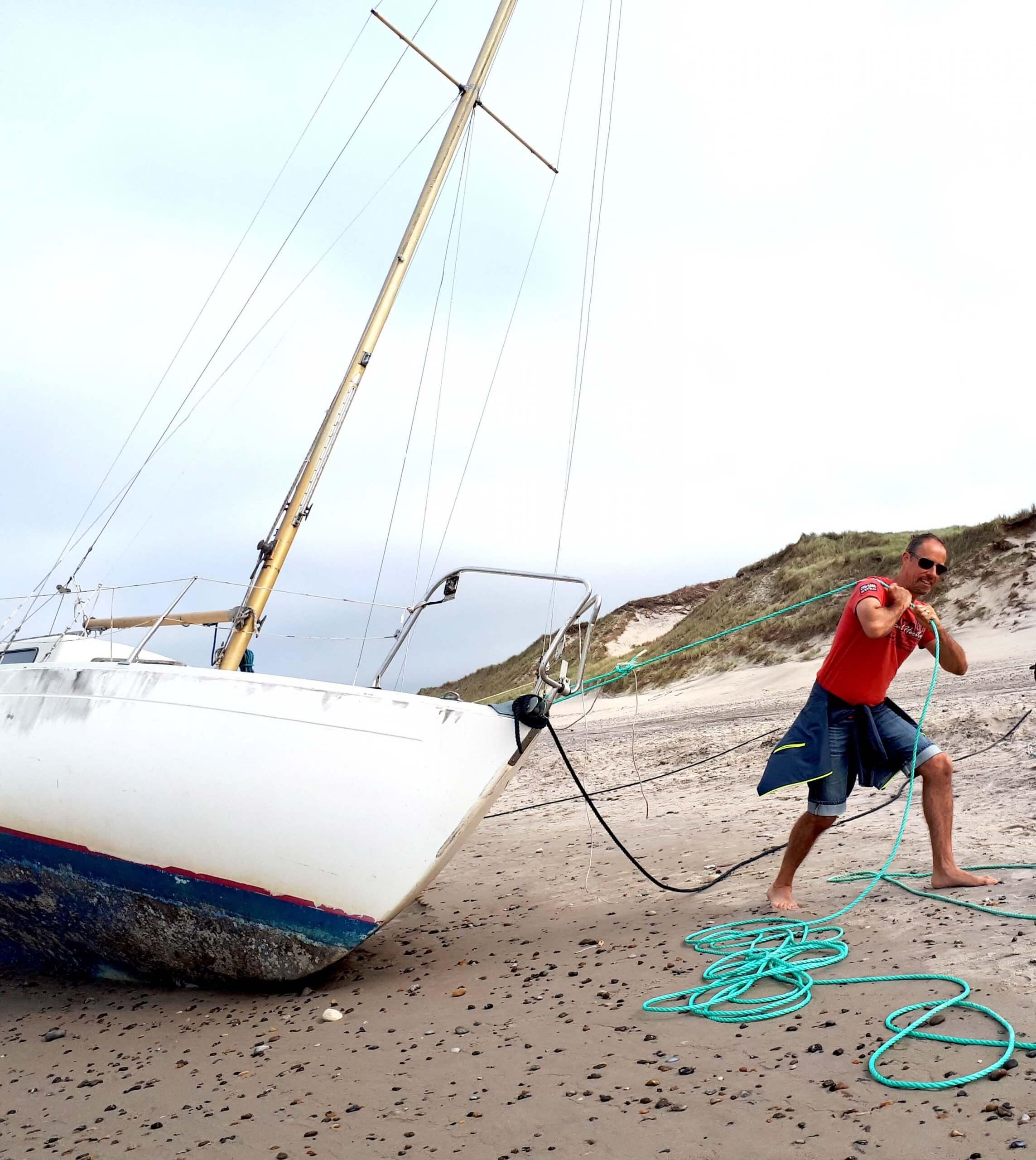 Martin Stengele mit Segelboot